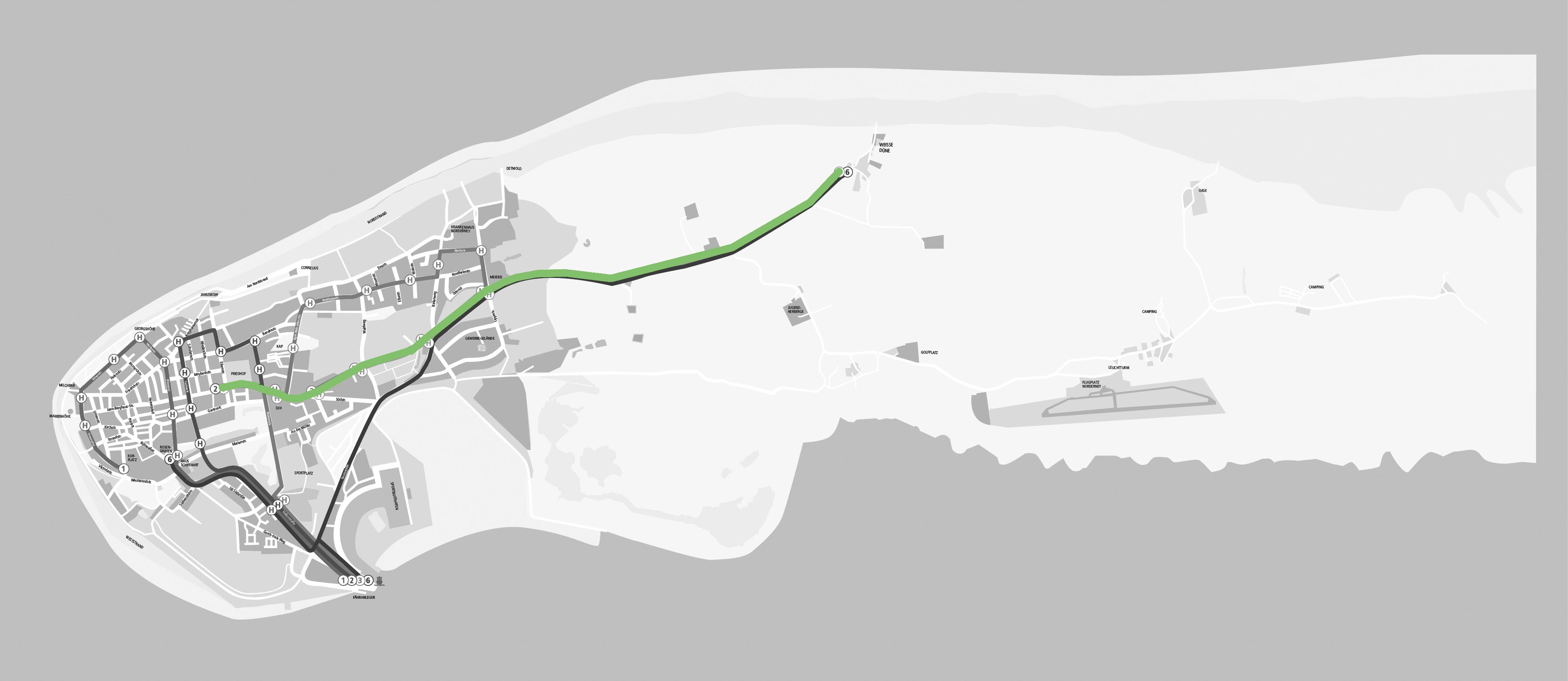 Norderney Karte Straßen.Reif Für Die Insel Buslinie 5 Norderney Linie 5