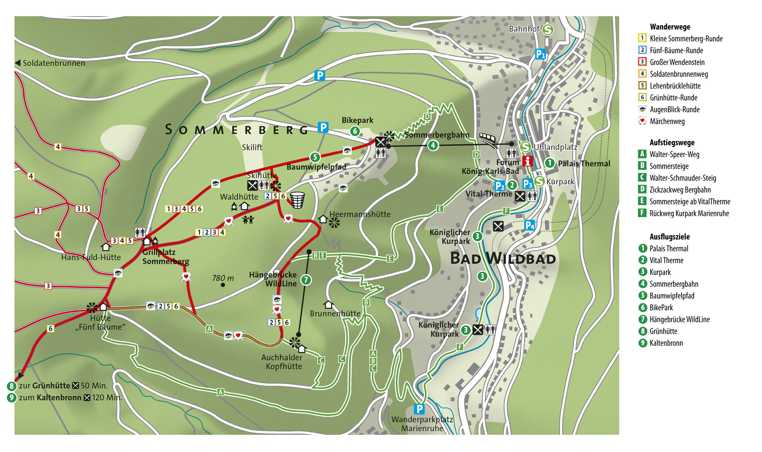 Nordschwarzwald Karte.Nordschwarzwald Rundweg 5 Auf Dem Sommerberg Linie 5